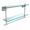Allied Brass AP-2TB/22-PC Astor Place Collection 22 Inch Two Tiered Glass Shelf with Integrated Towel Bar, Polished Chrome