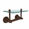 Allied Brass AP-GLT-24-ABZ Astor Place Collection Two Post Toilet Tissue Holder with Glass Shelf, Antique Bronze