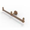 Allied Brass BPDT-HTB-2-BBR Dottingham Collection 2 Arm Guest Towel Holder, Brushed Bronze