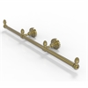 Allied Brass BPDT-HTB-3-UNL Dottingham Collection 3 Arm Guest Towel Holder, Unlacquered Brass