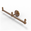 Allied Brass BPMC-HTB-2-BBR Monte Carlo Collection 2 Arm Guest Towel Holder, Brushed Bronze