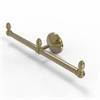 Allied Brass BPMC-HTB-2-UNL Monte Carlo Collection 2 Arm Guest Towel Holder, Unlacquered Brass
