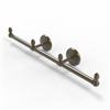 Allied Brass BPMC-HTB-3-ABR Monte Carlo Collection 3 Arm Guest Towel Holder, Antique Brass