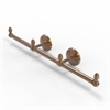 Allied Brass BPMC-HTB-3-BBR Monte Carlo Collection 3 Arm Guest Towel Holder, Brushed Bronze