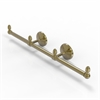 Allied Brass BPMC-HTB-3-UNL Monte Carlo Collection 3 Arm Guest Towel Holder, Unlacquered Brass