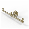 Allied Brass BPPR-HTB-2-UNL Prestige Regal Collection 2 Arm Guest Towel Holder, Unlacquered Brass