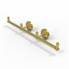Allied Brass BPPR-HTB-3-PB Prestige Regal Collection 3 Arm Guest Towel Holder, Polished Brass