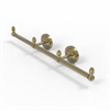 Allied Brass BPPR-HTB-3-UNL Prestige Regal Collection 3 Arm Guest Towel Holder, unlacquered Brass