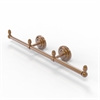 Allied Brass BPQN-HTB-3-BBR Que New Collection 3 Arm Guest Towel Holder, Brushed Bronze