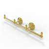 Allied Brass BPQN-HTB-3-PB Que New Collection 3 Arm Guest Towel Holder, Polished Brass