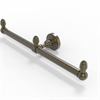 Allied Brass BPWP-HTB-2-ABR Waverly Place Collection 2 Arm Guest Towel Holder, Antique Brass