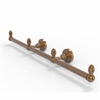 Allied Brass BPWP-HTB-3-BBR Waverly Place Collection 3 Arm Guest Towel Holder, Brushed Bronze