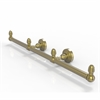 Allied Brass BPWP-HTB-3-SBR Waverly Place Collection 3 Arm Guest Towel Holder, Satin Brass