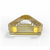 Allied Brass BSK-10ST-UNL Corner Soap Basket, Unlacquered Brass