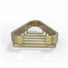 Allied Brass BSK-10ST-SBR Corner Soap Basket, Satin Brass
