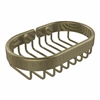 Allied Brass BSK-150LA-ABR Oval Soap Basket, Antique Brass