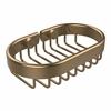 BSK-150LA-BBR Oval Soap Basket, Brushed Bronze