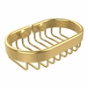 Allied Brass BSK-150LA-UNL Oval Soap Basket, Unlacquered Brass