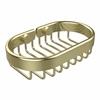 Allied Brass BSK-150LA-SBR Oval Soap Basket, Satin Brass