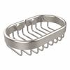 Allied Brass BSK-150LA-SN Oval Soap Basket, Satin Nickel