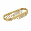 Allied Brass BSK-175LA-UNL Combination Wire Basket, Unlacquered Brass