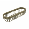 Allied Brass BSK-200LA-ABR Oval Toiletry Wire Basket, Antique Brass