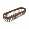 Allied Brass BSK-200LA-ABZ Oval Toiletry Wire Basket, Antique Bronze