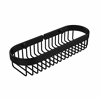 Allied Brass BSK-200LA-BKM Oval Toiletry Wire Basket, Matte Black