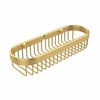 Allied Brass BSK-200LA-PB Oval Toiletry Wire Basket, Polished Brass