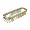 Allied Brass BSK-200LA-SBR Oval Toiletry Wire Basket, Satin Brass