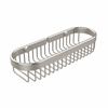 Allied Brass BSK-200LA-SN Oval Toiletry Wire Basket, Satin Nickel