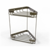 Allied Brass BSK-20DT-ABR Double Tier Corner Shower Basket, Antique Brass