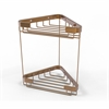 Allied Brass BSK-20DT-BBR Double Tier Corner Shower Basket, Brushed Bronze
