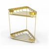 Allied Brass BSK-20DT-PB Double Tier Corner Shower Basket, Polished Brass