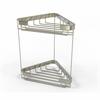 Allied Brass BSK-20DT-PNI Double Tier Corner Shower Basket, Polished Nickel