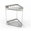 Allied Brass BSK-20DT-SN Double Tier Corner Shower Basket, Satin Nickel