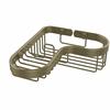 Allied Brass BSK-225LA-ABR Corner Combination Shower Basket, Antique Brass