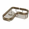 Allied Brass BSK-225LA-BBR Corner Combination Shower Basket, Brushed Bronze