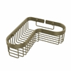 Allied Brass BSK-250LA-ABR Corner Toiletry Shower Basket, Antique Brass