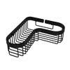 Allied Brass BSK-250LA-BKM Corner Toiletry Shower Basket, Matte Black