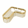 Allied Brass BSK-250LA-PB Corner Toiletry Shower Basket, Polished Brass