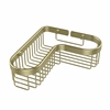 Allied Brass BSK-250LA-SBR Corner Toiletry Shower Basket, Satin Brass
