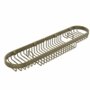 Allied Brass BSK-275LA-ABR Oval Combination Shower Basket, Antique Brass
