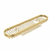 Allied Brass BSK-275LA-UNL Oval Combination Shower Basket, Unlacquered Brass