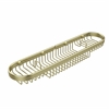 Allied Brass BSK-275LA-SBR Oval Combination Shower Basket, Satin Brass