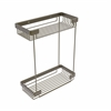 Allied Brass BSK-60DR-ABR Double Tier Rectangular Toiletry Shower Basket, Antique Brass
