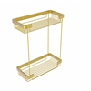 Allied Brass BSK-60DR-UNL Double Tier Rectangular Toiletry Shower Basket, Unlacquered Brass