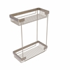 Allied Brass BSK-60DR-PEW Double Tier Rectangular Toiletry Shower Basket, Antique Pewter