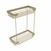 Allied Brass BSK-60DR-SBR Double Tier Rectangular Toiletry Shower Basket, Satin Brass
