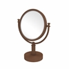 Allied Brass DM-4D/4X-ABZ 8 Inch Vanity Top Make-Up Mirror 4X Magnification, Antique Bronze